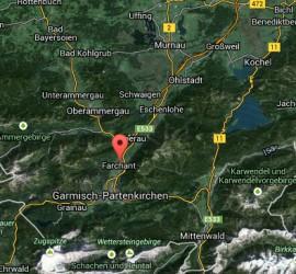 Lage Bergwelt Lechner Farchant vor der Zugspitze Hauptstr. 12